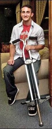Image of James with Super Pogo Stick